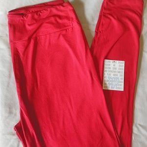 Lularoe NWT TC2 Red Leggings